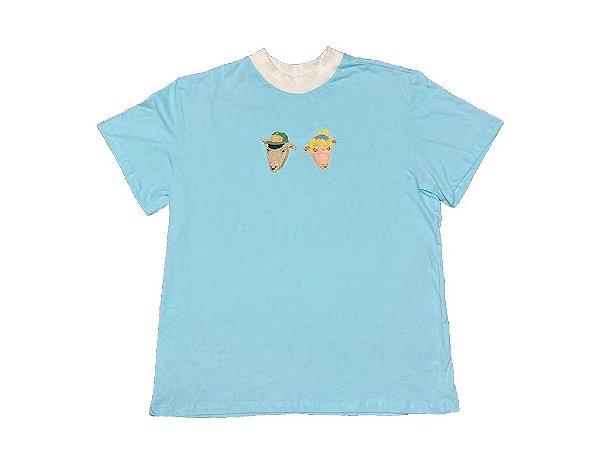 Camiseta Azul - Colisão