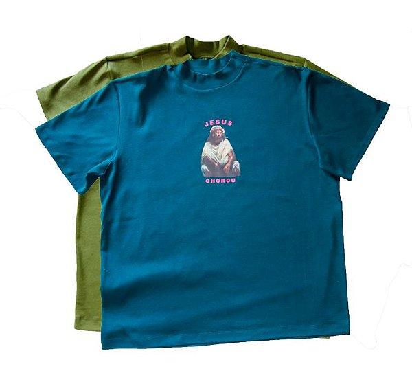 Camiseta Jesus Chorou - Petróleo