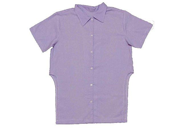 Camisa Linho Lilás