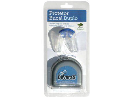 Protetor Bucal Duplo Estojo Azul Unico Moldavel