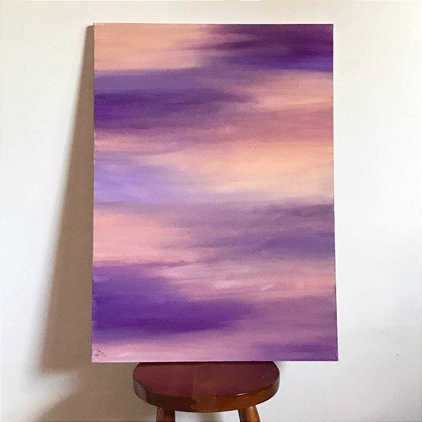 Quadro abstrato pintado à mão - Júpiter