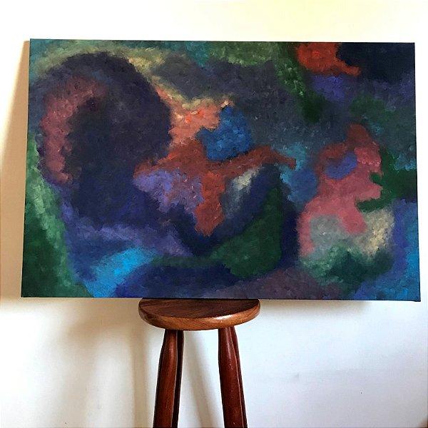 Quadro abstrato pintado à mão - Caos