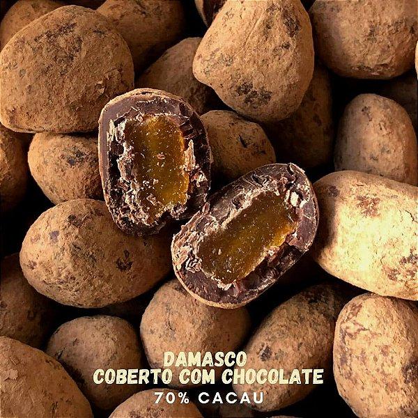 Drageados 200 gr– Damasco com chocolate 70% cacau