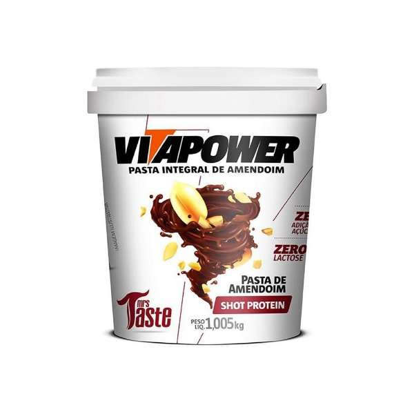 Pasta de Amendoim Shot Protein 1,005kg VitaPower