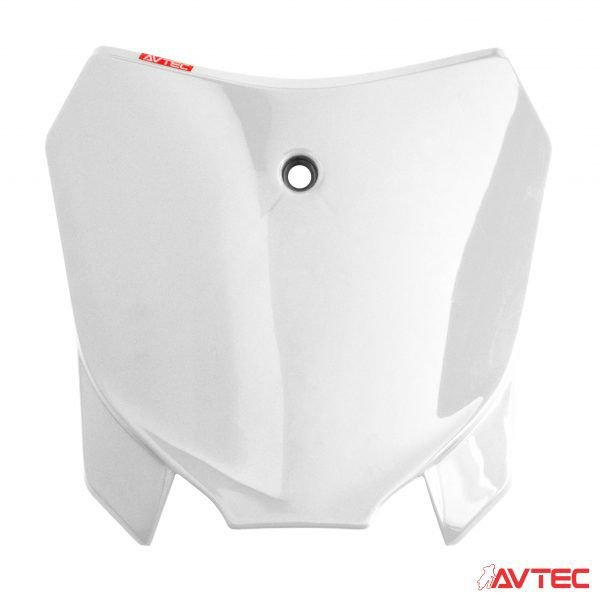 NUMBER PLATE FRONTAL AVTEC CRF 230 BRANCO