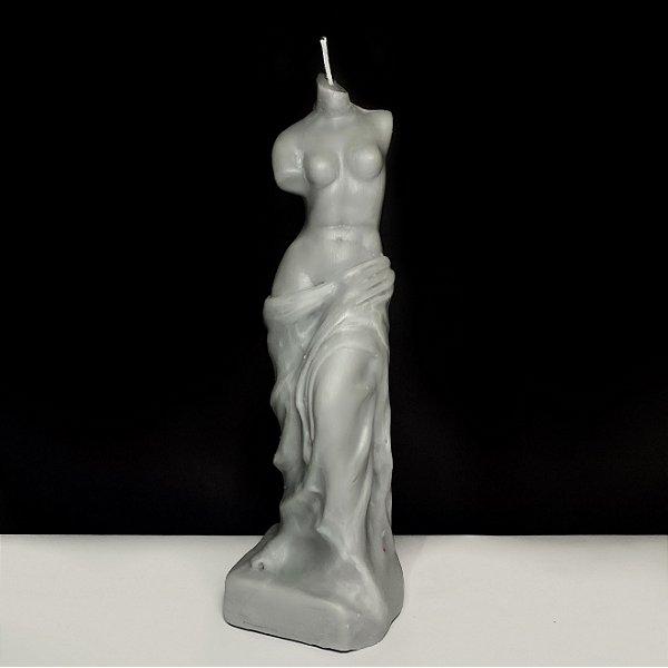 Vela Vênus de Milo Cinza