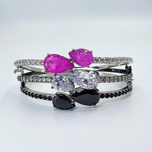 Bracelete Glam! Pedraria