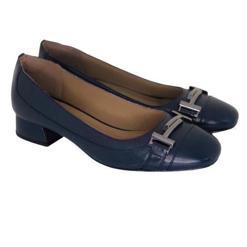 Sapato Azul Marinho com Metal Onix