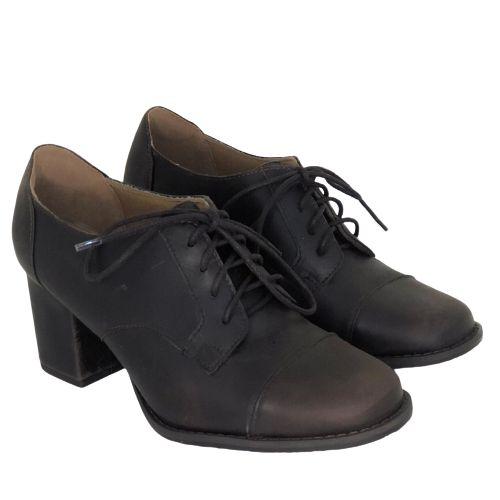 Sapato Com Cadarço Café