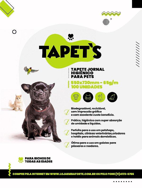 Tapete Higiênico PET 100fls  550x730mm