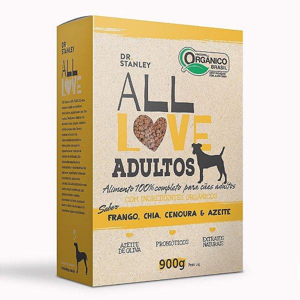 All Love - Adultos   Frango, Chia, Cenoura & Azeite 900g