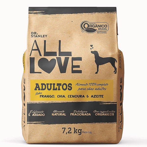 All Love - Adultos   Frango, Chia, Cenoura & Azeite 7,2 kg