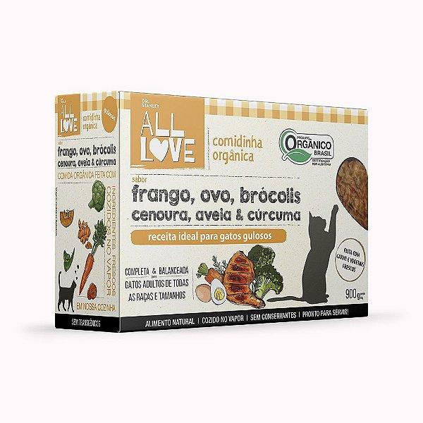 All Love | Comidinha Orgânica para gatos Gulosos 900 g