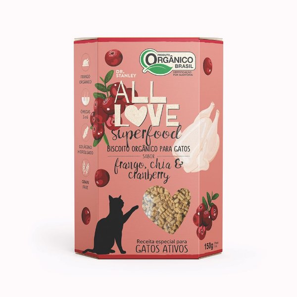 All Love - Superfood   Frango, Chia & Cranberry 150g