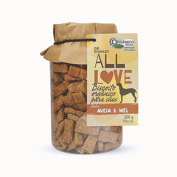 All Love - Biscoito Orgânico para Cães Aveia & Mel 200g