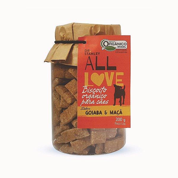 All Love - Biscoito Orgânico para Cães Goiaba & Maçã 200g