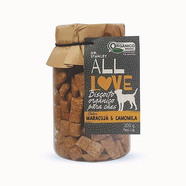 All Love - Biscoito Orgânico para Cães Maracujá & Camomila 200g