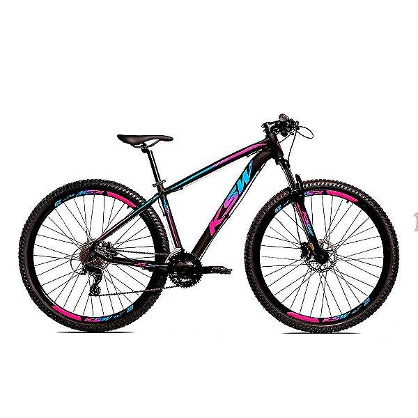 Bicicleta Alumínio KSW Shimano Altus 24 Vel Freio Hidráulico e Cassete KRW18