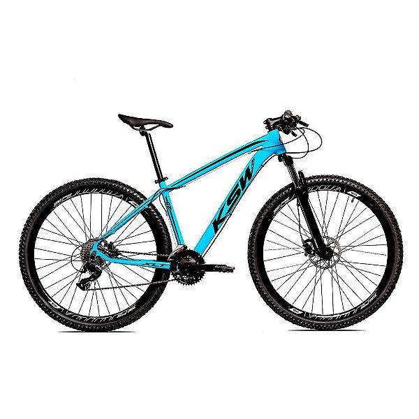 Bicicleta Alumínio KSW Shimano Altus 24 Vel Freio Hidráulico e Cassete KRW19