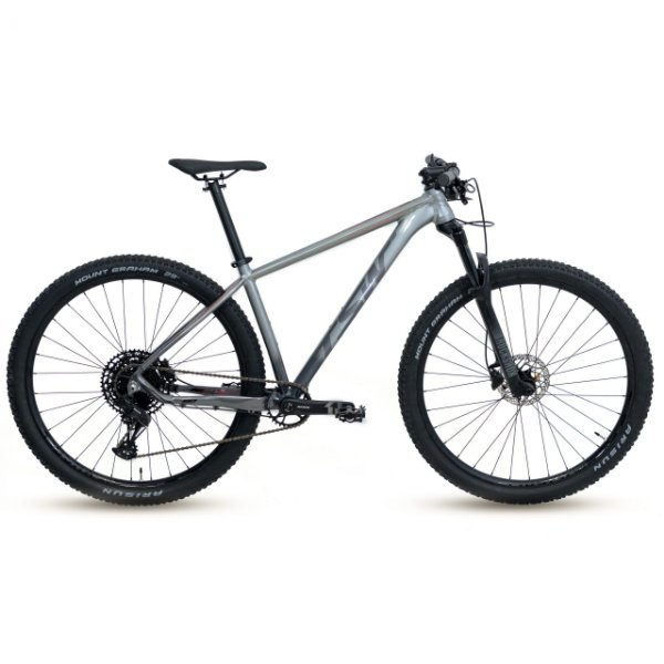 Bicicleta Alum 29 TSW Yukon SM-12 Vel Cinza/Vermelho 15.5'' Hidraulico