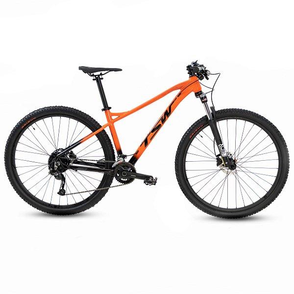 "Bicicleta Aro 29 TSW Stamina 18V Laranja/Pto Tamanho Quadro:17"""