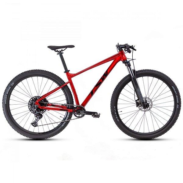 """Bicicleta Aro 29 TSW Hurry RS 12V Verm/ Preto Nac Tamanho Quadro:19"""""""