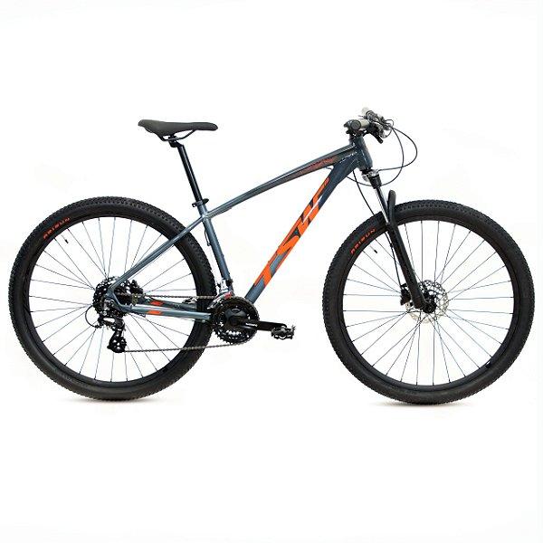 Bicicleta Alum 29 TSW Hunch 24 Vel Altus Hidráulico Pto/Cinza/Vermelho