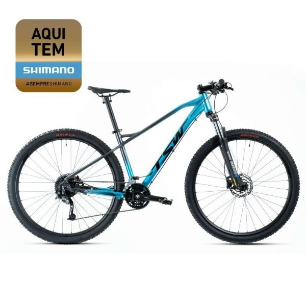 Bicicleta Aro 29 TSW Stamina 27V Preto/Azul