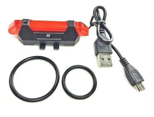 Luz De Segurança Traseira Vista Light USB High One 5 Funcoes