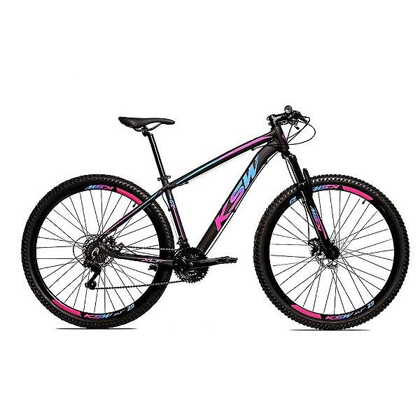 Bicicleta Alumínio 29 KSW Shimano Tourney 24 Velocidades Freio Hidráulico KRWC8
