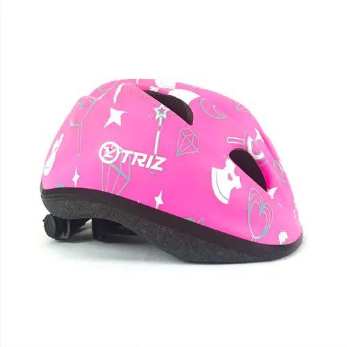 Capacete Bike Triz Baby Rosa