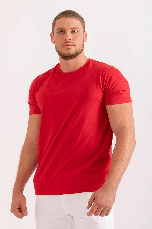 Camiseta básica vermelho