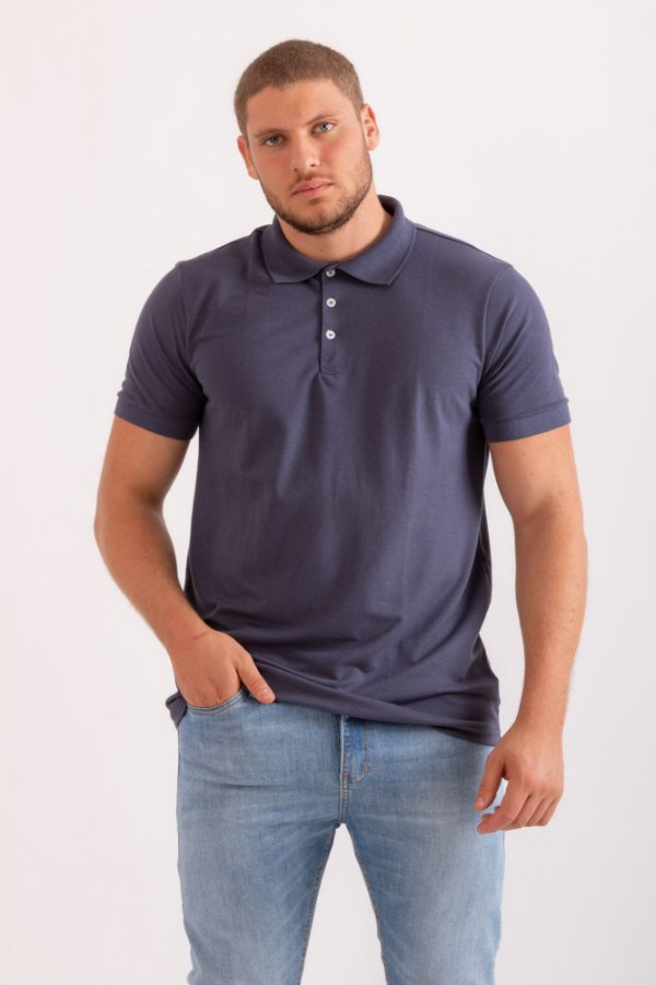 Camisa Polo Otavio azul marinho