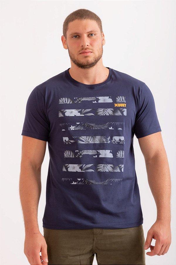 Camiseta Jungle azul marinho