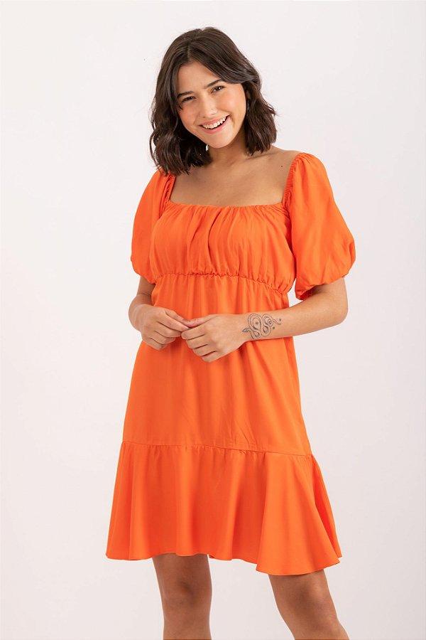 Vestido Giulia laranja