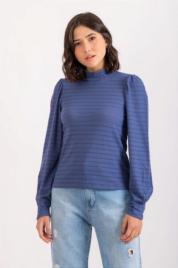 Blusa Nandina azul