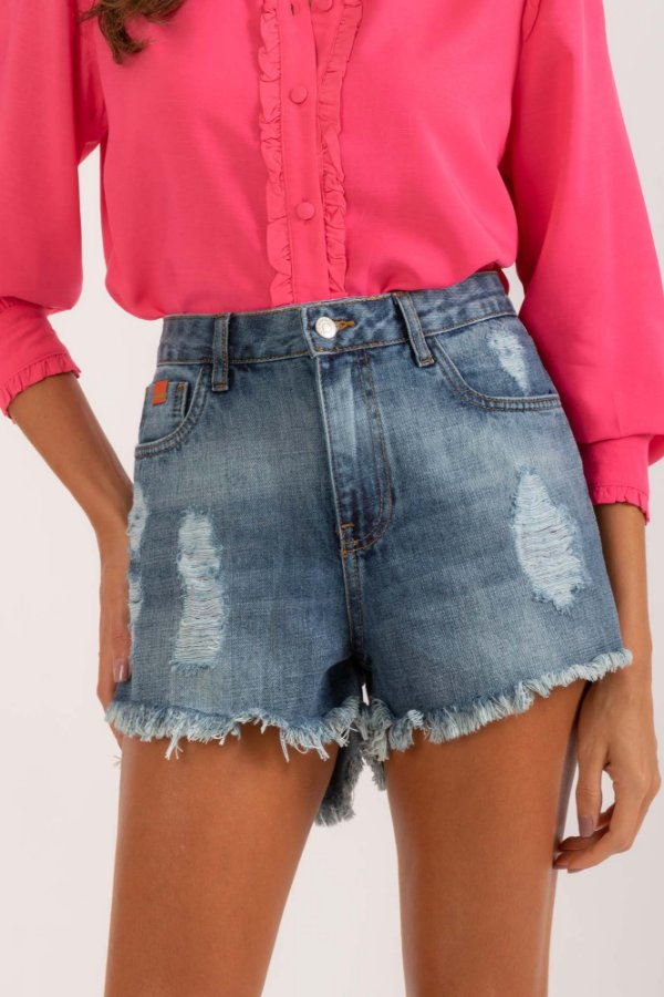 Short Selena jeans escuro