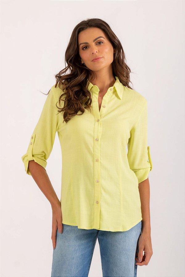 Camisa Samira verde cítrico