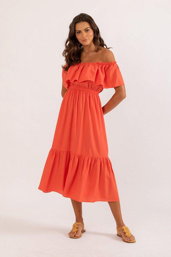 Vestido Celeste laranja