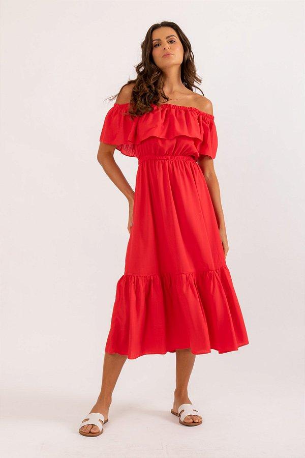 Vestido Celeste vermelho