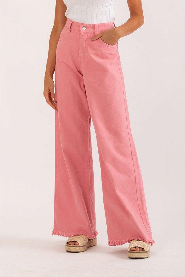 Calça Ceuta wide leg rosa