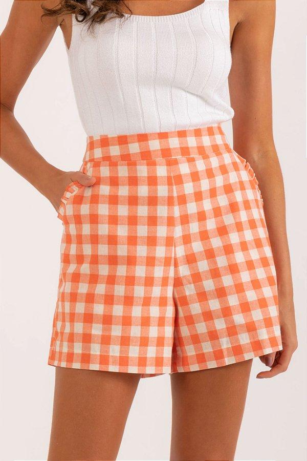 Short Mafe laranja