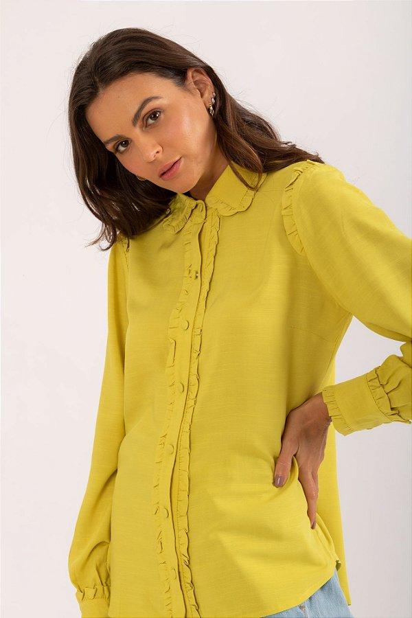 Camisa Elize verde cítrico
