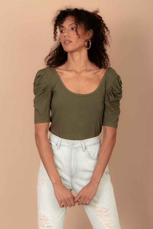 Blusa Carlota cor verde