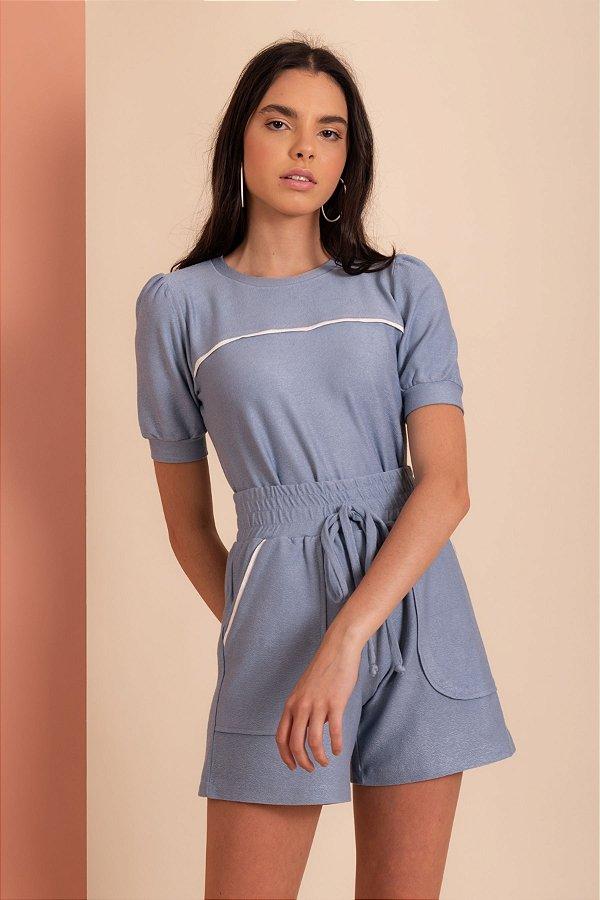 Blusa Fabiana cor azul