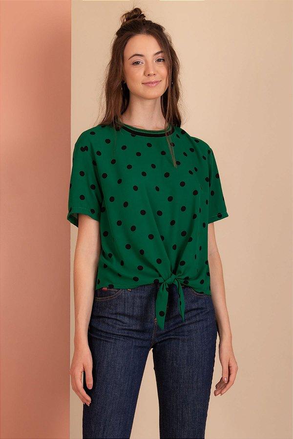 Blusa Bolinha verde