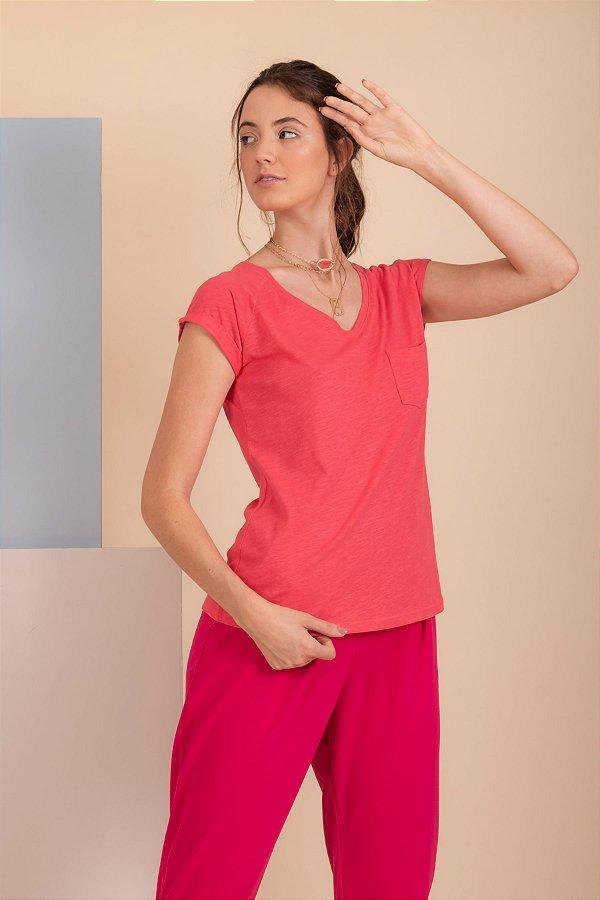 Camiseta Pochê pink