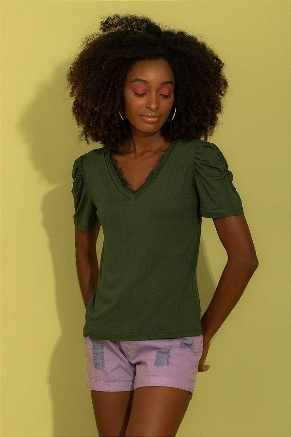 Blusa Zoey verde musgo