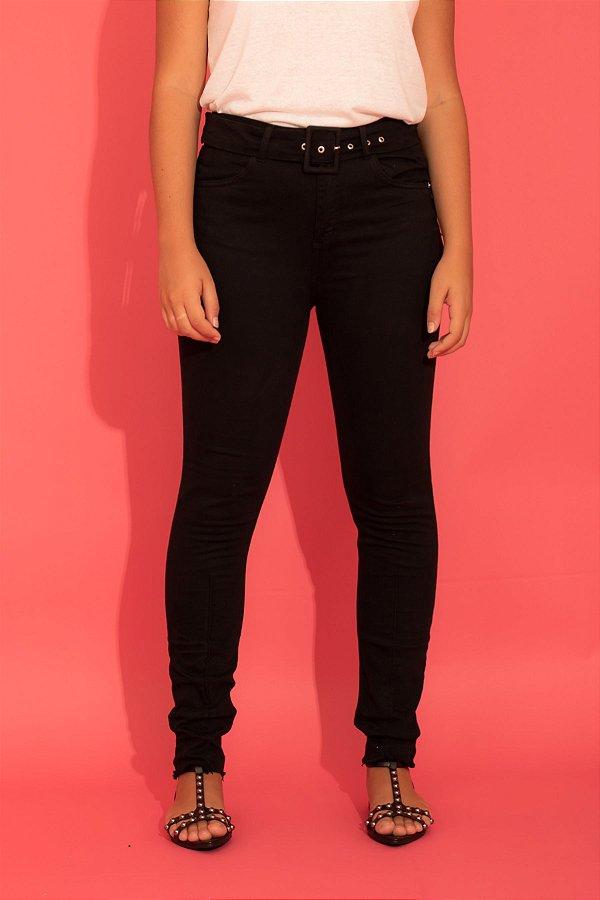 Calça Belt skinny preta