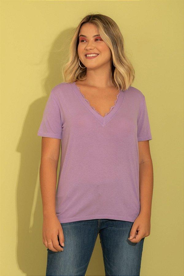 Camiseta Tata lilás